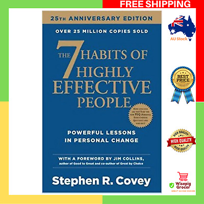 AU34.99 • Buy NEW The 7 Habits Of Highly Effective People Paperback Book Seven Habit FREE SHIP