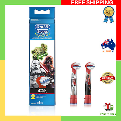 AU32.99 • Buy 2 X Oral-B Stages Replacement Electric Kids Toothbrush Heads Refill Star Wars