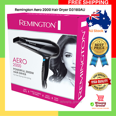 AU21.99 • Buy Remington Aero 2000 Poweful Hair Dryer Styling Blower D3190AU 3 Heat 2 Speed NEW