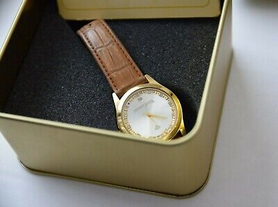 £25 • Buy Yves Camani - Golden Twinkle - Brown Watch- Rose Gold Plated -Zirconia Crystals