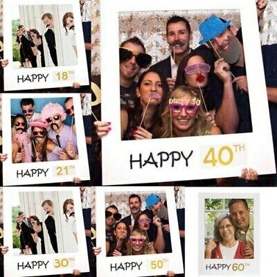 £3 • Buy Frame Photo Booth Props Happy Birthday Party Selfie 18th 21st 30th 40th 50th NEW