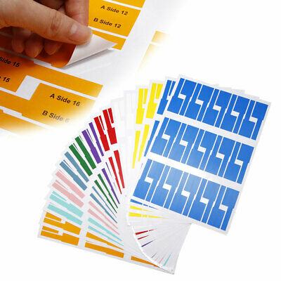 £7.51 • Buy 600PCS 20 Sheets A4 Self-adhesive Cable Labels Markers Tags Network Electric