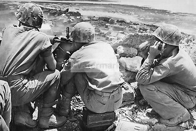 $2.99 • Buy WWII Photo US Marines With A Browning M1917 Machine Gun In Okinawa 1383