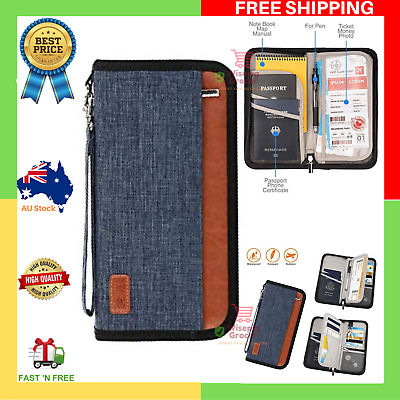 AU24.99 • Buy NEW Ultra Large Capacity Passport Holder RFID Blocking Travel Wallet Waterproof