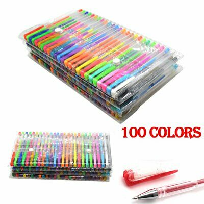 £11.51 • Buy 100PCS Gel Pens Colored Glitter For Coloring Books Drawing Art Marker Adult Kids