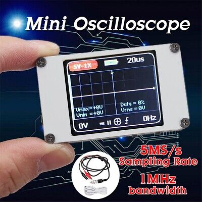 DSO188 Handheld Mini Pocket Portable Ultra-Small Digital Oscilloscope 1MHz 5MS/s • 33.99£