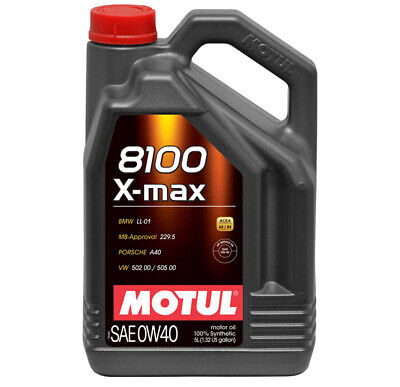 Motul 8100 X-Max 0W-40 Fully Synthetic Engine Motor Oil 0W40 5 Litres 5L • 43.95£