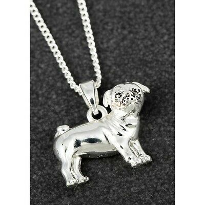 £11.95 • Buy Equilibrium Silver Plated Pug Dog Fury Companions  Necklace Jewellery 299353