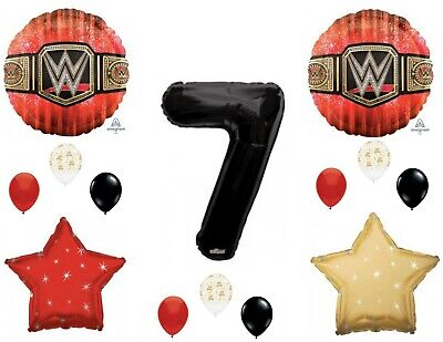 WWE Wrestling 7th Happy Birthday Party Balloons Decoration Supplies • 12.70£