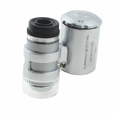 £9.18 • Buy LED Light Currency Detecting Jeweler Magnifier Pocket Loupe Microscope 60X