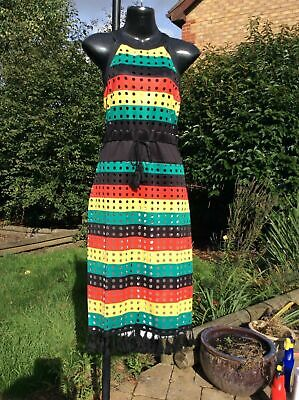 £29.99 • Buy Jamaican Rasta Colour, Reggae, Hollow Out Stripe Dress. 2SIZE'S...10-12 And 2-14