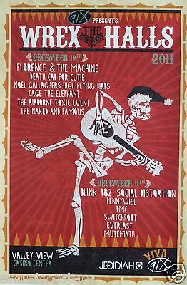 $14.31 • Buy Blink 182/social Distortion/pennywise  Wrex The Halls  2011 Concert Tour Poster