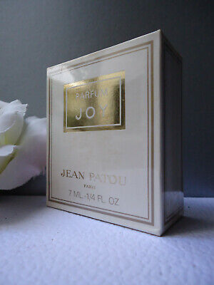 JEAN PATOU JOY Parfum 7ml 1/4oz Vintage 1970-1980s New Sealed Box Weighed & Full • 125£