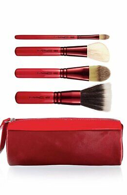 MAC Face 4 Brush Box Set (187, 168, 190, 194) W/ Bag  FAST SHIPPING • 25.08£