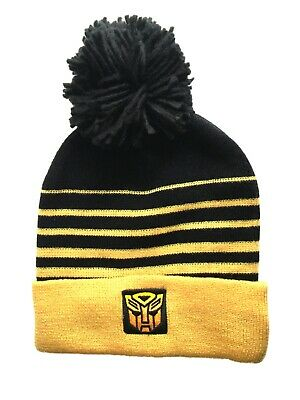 £8.24 • Buy Boys Licensed TRANSFORMERS BumbleBee Beanie Hat Winter Bobble Hat Age 8 - 12