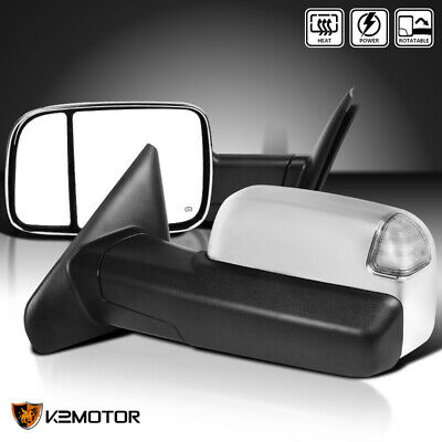 $161.38 • Buy For 2002-2008 Dodge Ram 1500 03-09 2500 3500 Chrome Power+Heated LED Tow Mirrors