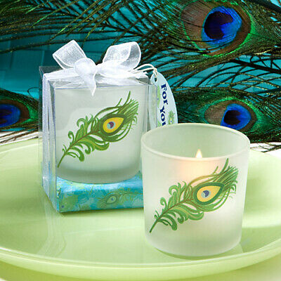 £5.99 • Buy Votive Candle Holder Unique Peacock Feather Design With Tea Light And Box/Ribbon