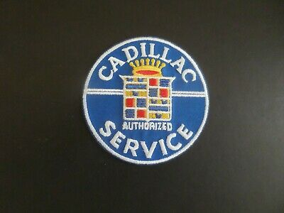 CADILLAC-WHITE  & Blue Embroidered 3 X 3 Iron On Patch  • 3.50$