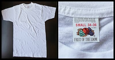 $ CDN40.86 • Buy Vintage FRUIT OF THE LOOM T SHIRT (35/Chest/ Small ) 70s/80s Undershirt/white