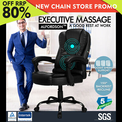 AU135.80 • Buy ALFORDSON Massage Office Chair Executive Seat Recliner Gaming Racing PU Leather