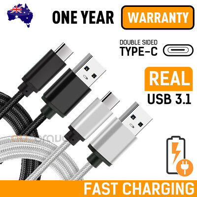 AU6.95 • Buy FAST CHARGE USB-C Type C Cable Data For Samsung S10 Plus S9 Note 10 PLUS HUAWEI