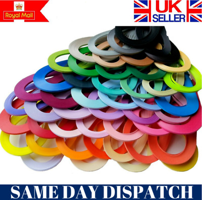 £2.99 • Buy 200 Quilling Quality Paper Strips Various Colours 3mm Wide Craft Handmade DIY UK