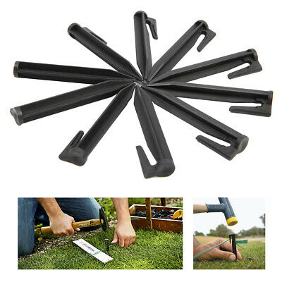 Plastic Garden Hooked Net Pegs For Drip Irrigation Line Weeping Pipe Soaker Hose • 10.99£