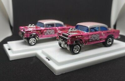 $95 • Buy Hot Wheels 55 Chevy Gasser Pink Candy Striper RLC EXCLUSIVE (Custom)