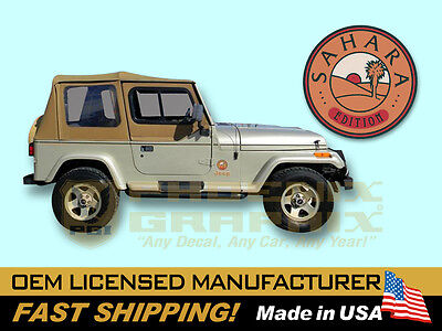 AU208.35 • Buy 1992 1993 1994 Jeep Wrangler Sahara Edition YJ Decals & Stripes Kit