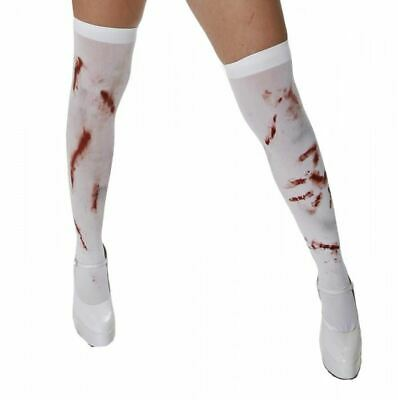 Hold Up Bloody Stockings,white With Blood Stains,halloween Fancy Dress,bloodied • 1.99£