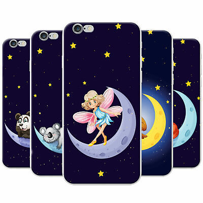 £3.95 • Buy Happy On The Moon With The Stars Snap-on Hard Case Phone Cover For Apple Phones
