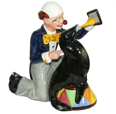 ROYAL DOULTON  Figurine Ornament Clown With Seal  ' Partners ' HN3119 1st Q • 125£