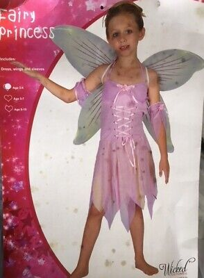 £7.99 • Buy Fairy Princess Pink Fairy Girls Halloween Fancy Dress Up Costume Small Reduced