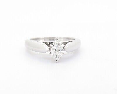 AU995 • Buy .A 0.38ct Marquise Cut Diamond 14k White Gold Ladies Dress Ring Size L Val $2860