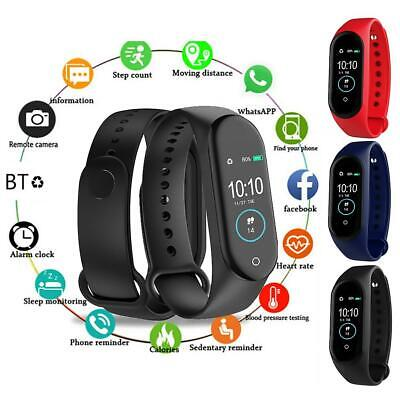 $ CDN12.72 • Buy M4 Smart Band Watch Bracelet Wristband Fitness Monitor Blood Pressure Heart Rate