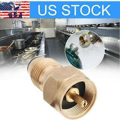 $9.49 • Buy 1pc Safety Tank Fill Attachment Solid Brass Propane Refill Adapter For 1LB Tank