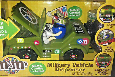 $95.99 • Buy M&M 2009 MILITARY VEHICLE JEEP DISPENSER Collectible M & M Jeep Horn NEW IN BOX