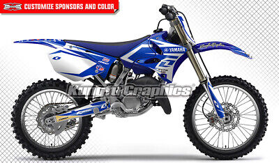 AU181.85 • Buy Motocross Graphics Kit MX Sticker For Yamaha YZ125 YZ250 YZ 125 250 2002 To 2014