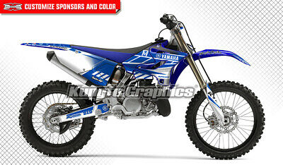 AU195.85 • Buy Custom Graphics Decal Kit For Yamaha YZ125 YZ250 YZ 125 2015 2016 2017 2018 2019