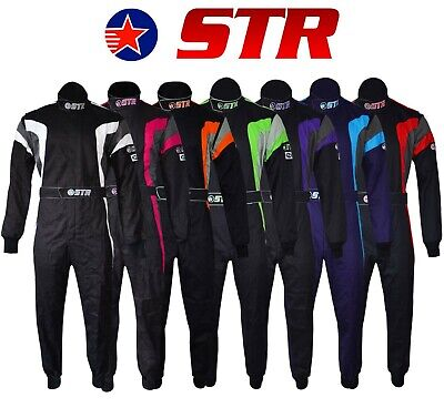 STR Podium Youth Kids Child Race Suit Overall Single Layer SFI3.2A/1 Proban Oval • 95£