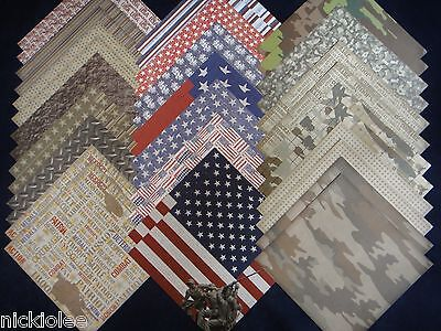 $26.95 • Buy 12x12 Scrapbook Paper Studio Proud To Serve Patriotic USA Camouflage Army 40 Lot