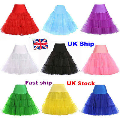 RULTA 26  Retro Net Underskirt 50s Swing Wedding Petticoat Rockabilly Tutu Skirt • 6.99£