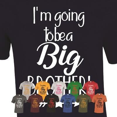 Big Brother T-Shirt Tshirt Mens Youth To I'm Going Be Announcement Top Promoted • 5.99£