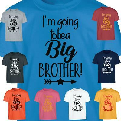 Promoted Big Brother Tshirt Kids Girls I'm Going Top Be T-Shirt Announcement • 5.99£