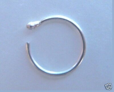AU3.59 • Buy TIGHT FIT Nose Ring - STERLING SILVER - Choose: 7mm Or 8mm - (Extra Thin) 0.5mm