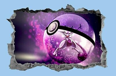 Pokemon,Sticker,Pokeball,Decal,Kids,Bedroom,3D,Wall Art,Mural • 3.99£
