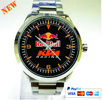 $3.99 • Buy New RED BULL KTM RACING Sport Metal Watch Luxury Gift