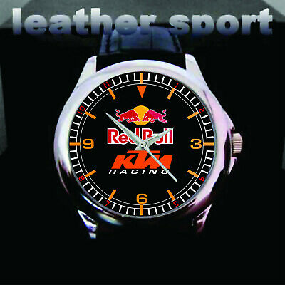 $3.99 • Buy Sale!! RED BULL KTM RACING Leather Sport Watches Luxury Gift