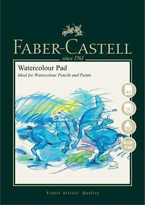 #792812 Faber Castell A3 Sketch Pad Watercolour Spiral Bound 300gsm 10 Pages Art • 10.38£