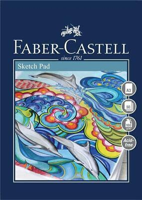 #792515 Faber Castell A3 Sketch Pad Creative Studio 100gsm 50 Sheets Art Draw • 8.03£